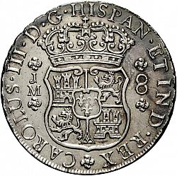 Large Obverse for 8 Reales 1770 coin