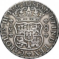 Large Obverse for 8 Reales 1771 coin