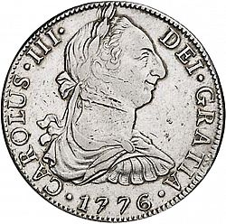 8 Reales From 1776 Spain 1759 88 Carlos Iii The Coin Database