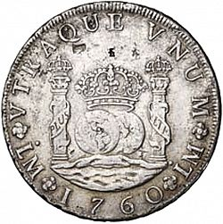 Large Reverse for 8 Reales 1760 coin