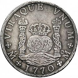 Large Reverse for 8 Reales 1770 coin