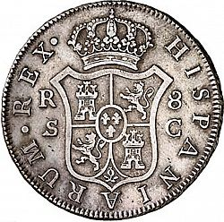 Large Reverse for 8 Reales 1788 coin