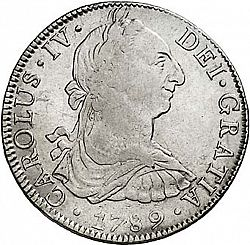 Large Obverse for 8 Reales 1789 coin
