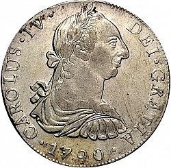 Large Obverse for 8 Reales 1790 coin
