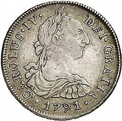 Large Obverse for 8 Reales 1791 coin