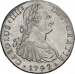 Large Obverse for 8 Reales 1797 coin