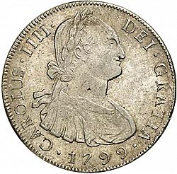 Large Obverse for 8 Reales 1799 coin