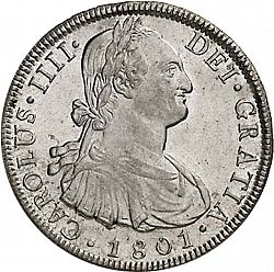 Large Obverse for 8 Reales 1801 coin