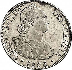 Large Obverse for 8 Reales 1803 coin