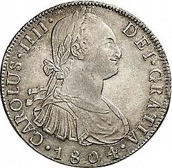 Large Obverse for 8 Reales 1804 coin