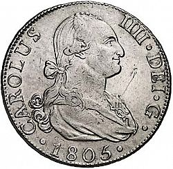 Large Obverse for 8 Reales 1805 coin