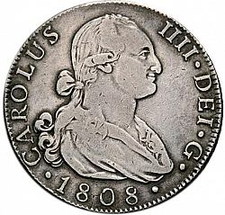 Large Obverse for 8 Reales 1808 coin