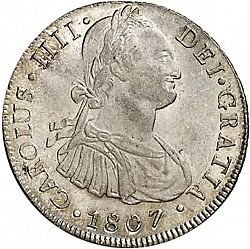 Large Obverse for 8 Reales 1807 coin