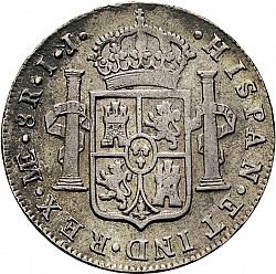 Large Reverse for 8 Reales 1789 coin