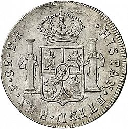 Large Reverse for 8 Reales 1790 coin