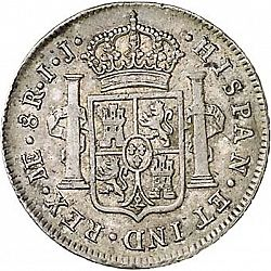 Large Reverse for 8 Reales 1791 coin