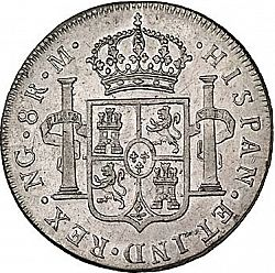 Large Reverse for 8 Reales 1792 coin