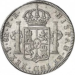 Large Reverse for 8 Reales 1794 coin