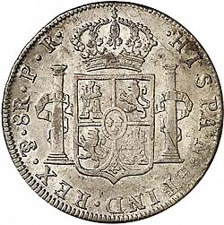 Large Reverse for 8 Reales 1795 coin