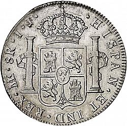 Large Reverse for 8 Reales 1797 coin