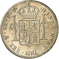 Large Reverse for 8 Reales 1799 coin