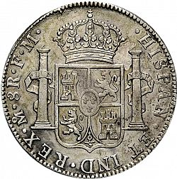 Large Reverse for 8 Reales 1800 coin