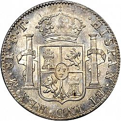 Large Reverse for 8 Reales 1801 coin