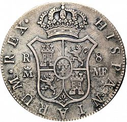 Large Reverse for 8 Reales 1802 coin