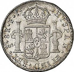Large Reverse for 8 Reales 1804 coin