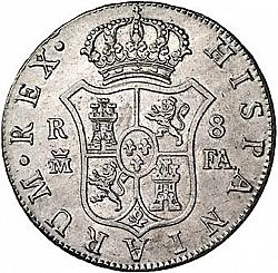 Large Reverse for 8 Reales 1805 coin
