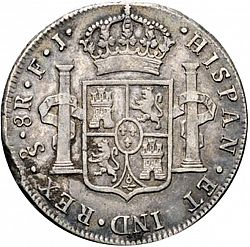 Large Reverse for 8 Reales 1806 coin