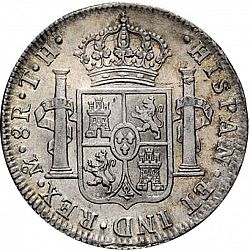 Large Reverse for 8 Reales 1807 coin