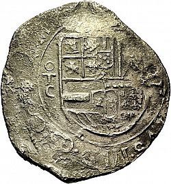 Large Obverse for 8 Reales 1599 coin