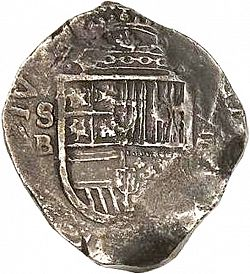 Large Obverse for 8 Reales 1609 coin