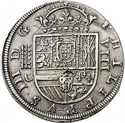 Large Obverse for 8 Reales 1611 coin
