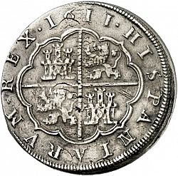 Large Reverse for 8 Reales 1611 coin