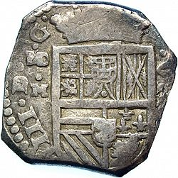 Large Obverse for 8 Reales 1635 coin