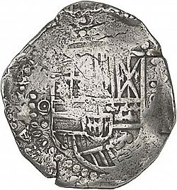 Large Obverse for 8 Reales 1649 coin