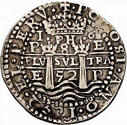 Large Obverse for 8 Reales 1652 coin