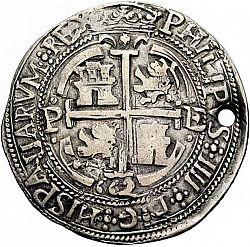 Large Reverse for 8 Reales 1662 coin