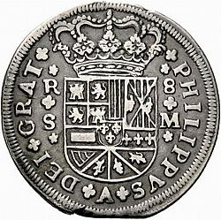 Large Obverse for 8 Reales 1718 coin