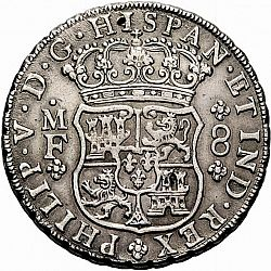 Large Obverse for 8 Reales 1739 coin