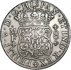 Large Obverse for 8 Reales 1743 coin