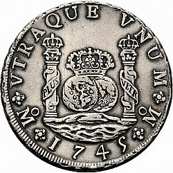 Large Reverse For 8 Reales 1745 Coin