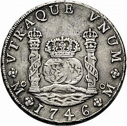 Large Reverse for 8 Reales 1746 coin