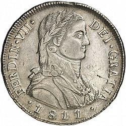 Large Obverse for 8 Reales 1811 coin