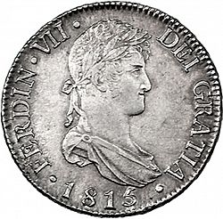Large Obverse for 8 Reales 1815 coin