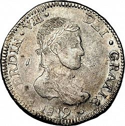 Large Obverse for 8 Reales 1819 coin