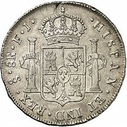 Large Reverse for 8 Reales 1811 coin