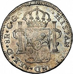 Large Reverse for 8 Reales 1819 coin